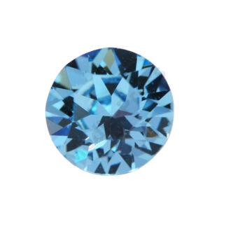 Diamond fülbevaló 6 mm  - Aquamarine