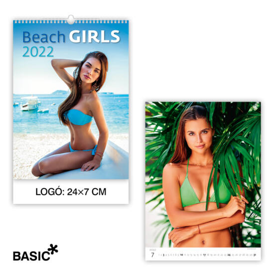 Beach Girls falinaptár (basic)