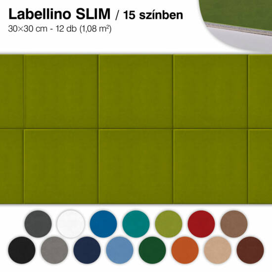 Falipanel SLIM Labellino 12 db 30x30 cm - 15 színben