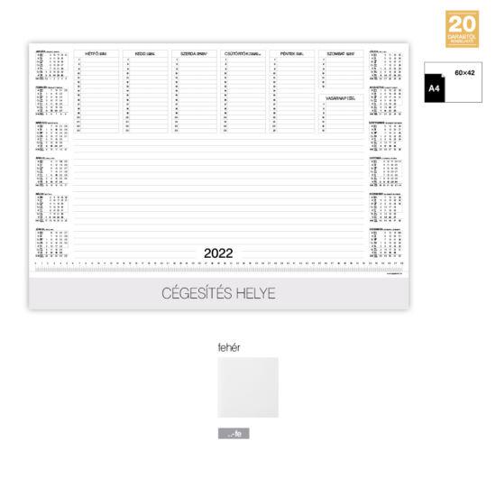 Asztali könyöklőnaptár - fehér füllel