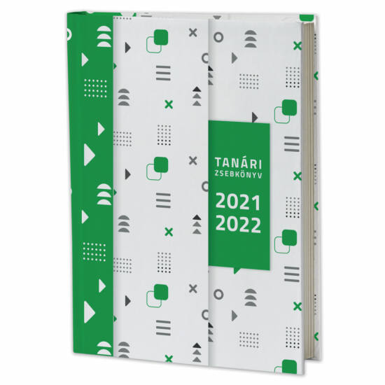 Eminens tanári zsebkönyv 2021/22 - zöld minta